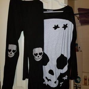 Skeleton Knee Lenght Top w/leggins